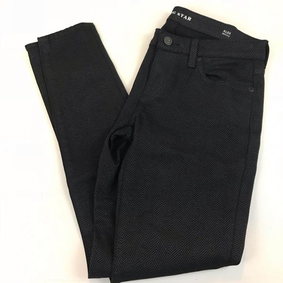 Big Star Denim - Big Star Alex Skinny Jeans Pants 26 Black Gray